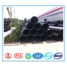 HDPE enrollado en espiral pipa de las aguas residuales con correa de acero reforzada