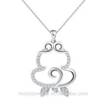 Plata esterlina 925 regalo chino al por mayor del Año Nuevo 12 colgante del mono del zodiaco