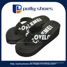 Black Open Toe Wedge Sandal Heels Women′s Size: 36