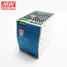 Original MEANWELL 75w to 480watt slim and economical NDR series power supply 24VDC 20a din power supply NDR-480-24