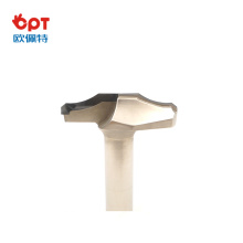 PCD wood router bit guard for CNC