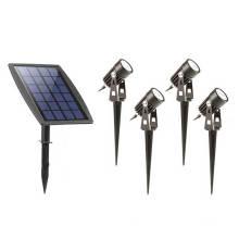 4 Lamp Led Solar Garden Lights Outdoor Waterproof Solar Spotlight Kit