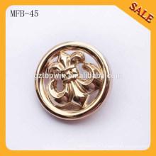 MFB45 Bouton de couture en alliage de mode / bouton de couture en métal logo pour manteau
