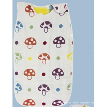 100% Cotton Muslin Baby Sleeping Bag/Baby Sleeping Sacks with 6 Layers Gauze