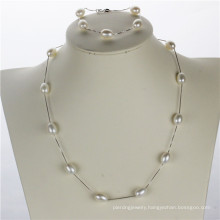 Snh White 925silver Women Pearl Set, Natural Jewelry Wholesale