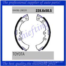 K2267 FSB255 04496-28020 0449628020 0449420121 0449620120 0449420130 0449620110 for Toyota Daihatsu replace drum brake shoes