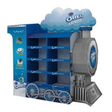 Point of Sale Cardboard Pallet Train Racks for Oreo Cookies