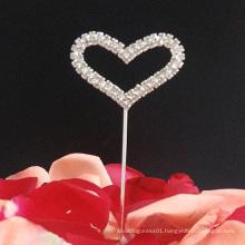Rhinestone Heart Wedding Cake Topper Cupcake Topper Decoration