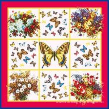La última bufanda de la impresión de la mariposa