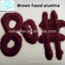 Los abrasivos del horno de descarga marrón alúmina fundida F16-220