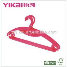 Durable pp plastic clothes hangers with trousers bar and tie rack