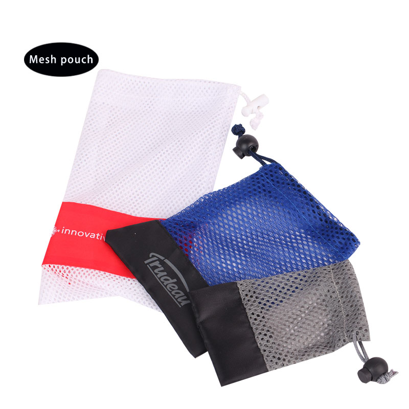 Cosmetic mesh bag pouch with custom logo