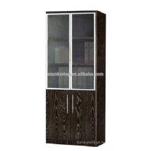 Prateleira de livros de carvalho escuro de duas portas para escritório usado, Mobiliário de escritório comercial (KB843)