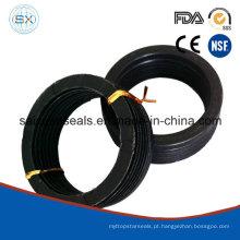 A fibra reforça o selo de borracha da haste do Chevron do anel-V