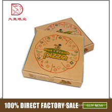 China custom logo cheap personalized small empty corrugated pizza packaging box