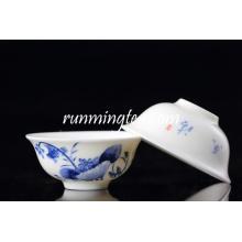 Vente en gros de tasses à thé en lotus bleu / tasse à thé en forme de fleur