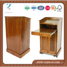 Lectern with Sliding Drawer & Adjustable Shelf in Cabinet