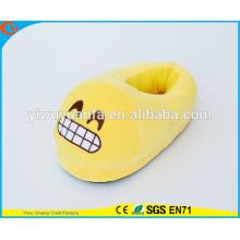 Hot Sell Novelty Design Loud Laughing Plush Emoji Slipper with Heel