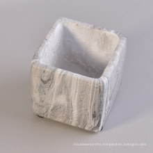 Square Water Transfer Decorative Ceramic Candle Holders