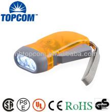 Energy saving mini 3 led hand crank flashlight