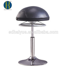 Hot selling Round Seat black pu bar furniture for sale with round base