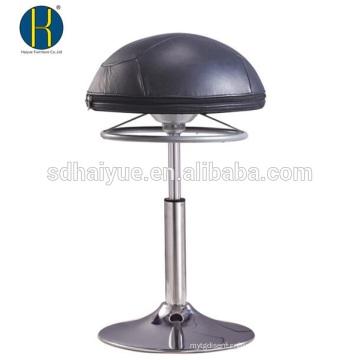 Altura Ajustável Europeu Europeu de couro preto bola redonda assento em casa fezes