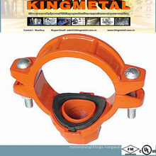 FM/UL Victaulic Fire Pipe Fittings Threaded Mechanical Tee.