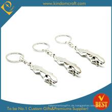 Hochwertiges silbernes fertiges Metall Keychain