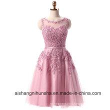 Кружева короткие вышивка с перспективой бисером спинки платье выпускного вечера