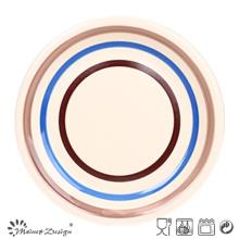 Color Circles Ceramic Dinner Plate