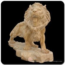 Garten Stein schnitzen lebensgroße Marmor Löwen Statuen zu verkaufen