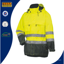 High Visibility Gelbe Polar Fleece Sicherheitsjacke