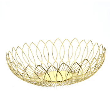 Gold Fruit Bowl Kitchen Counter Decor Large Decorative Bowl Modern KItchen Decor Gold Fruit Basket