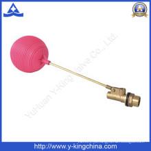 Válvula de bola flotante de cobre amarillo de los tanques de agua con la bola plástica (YD-3016)