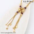 43083- Xuping Jewelry Fashion 18K chapado en oro collar para mujer