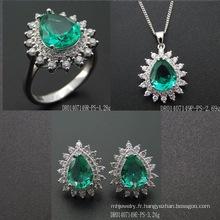 Fashion Green Spinel Pear Shape Stone Jewellery Setting