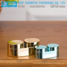 WJ-W série inovadora cor personalizável 10g e 20g delineador gel/dia e noite creme câmara dupla oval mini frasco de creme pp