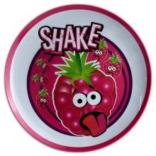 8 polegadas rodada melamina prato com logotipo