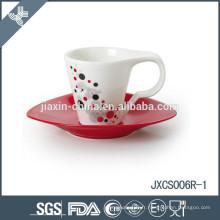 Tasse de café de porcelaine de 100CC 12pcs et soucoupe