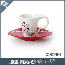 100CC 12pcs porcelain coffee cup and saucer
