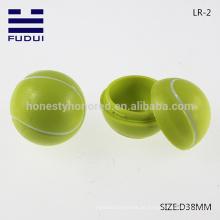 NEU!! Großhandel Promotion 38mm ABS winzigen Tennis Ball Form Lippenbalsam Container