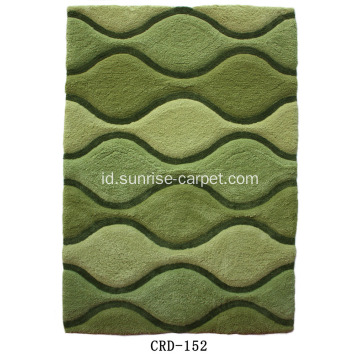 Soft Microfiber Modern 3D Pattern Carpet