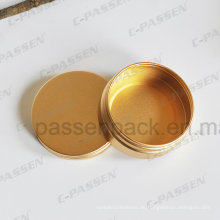 Eloxierte goldene Aluminium Tee Blechdose