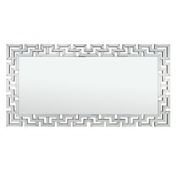 Miroir rectangulaire transparent au sol