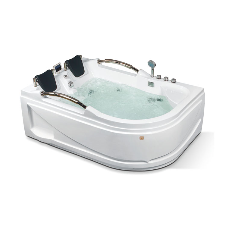 Rectangle Two Persaon Acrylic Massage Bathtub