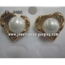 pendientes de perla de la cáscara de forma de corazón de regalo