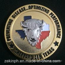 Monedas de desafío y monedas de recuerdo acabadas en dos tonos 3D personalizadas