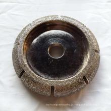 Roda abrasiva de mármore galvanizada do diamante de 200MM
