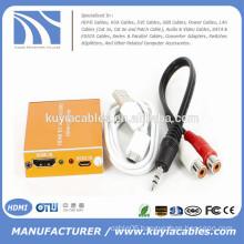 1080P Audio HDMI to VGA HD HDTV Video Converter Box Adapter for PC Laptop DVD