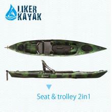 4.3m LLDPE / HDPE Rotomoulded pesca sentar-se no topo caiaque Atacado, qualidade estável, bom preço